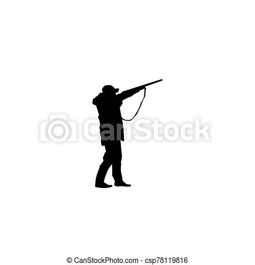 黑色半面畫像, 打獵 - csp78119816
