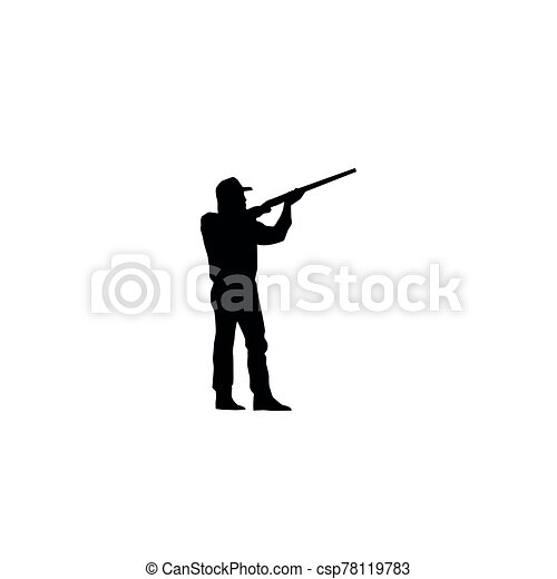 黑色半面畫像, 打獵 - csp78119783