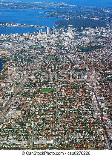 1, 城市觀點, 空中, 佩思 - csp0276226
