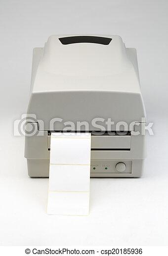 barcode, 打印机, 標簽 - csp20185936