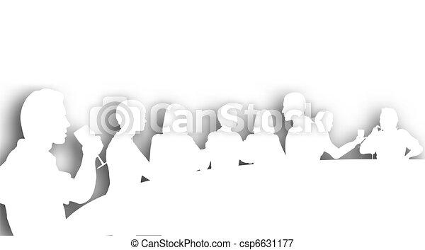 cutout, 酒吧, 酒 - csp6631177