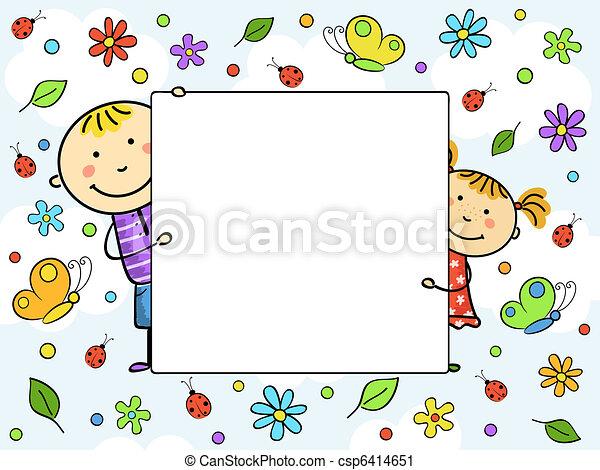 frame., 孩子 - csp6414651