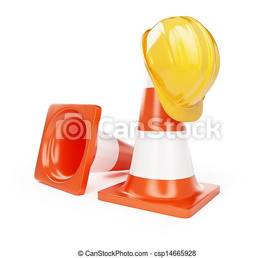 hardhat, 建設, 在下面 - csp14665928