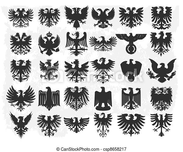 heraldic, 元素, 設計 - csp8658217