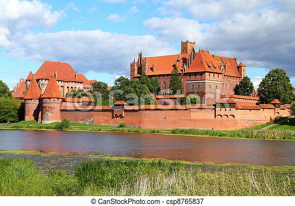 malbork, 城堡 - csp8765837