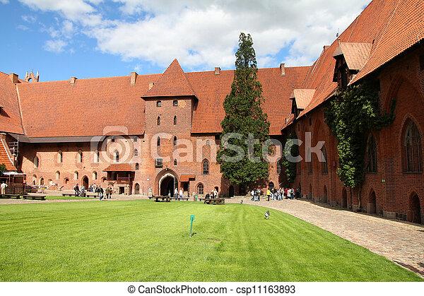 malbork, 波蘭, 城堡 - csp11163893