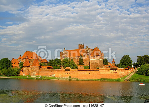 malbork, 波蘭, 城堡 - csp11628147