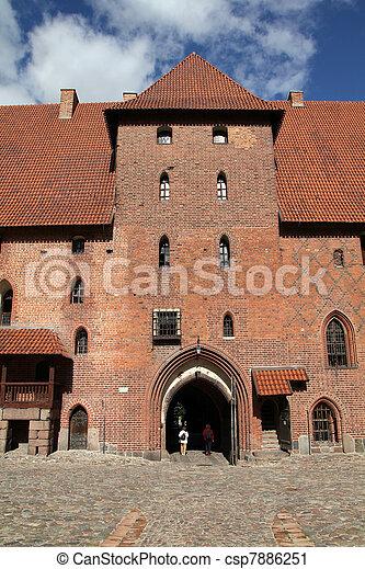 malbork, 波蘭, 城堡 - csp7886251