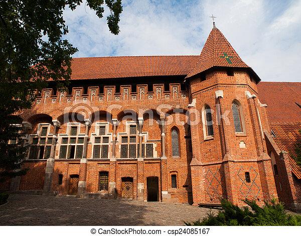 masters', malbork, 城堡, 教堂, 盛大 - csp24085167