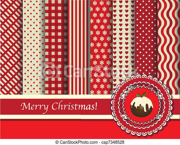 scrapbooking, 聖誕節, 紅色, 奶油 - csp7348528