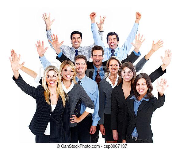 team., 愉快, 商業界人士 - csp8067137